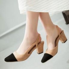 รองเท้าส้นสูง แฟชั่นเกาหลีหัวแหลมมีสายรัดส้นเท้าสวยใหม่ล่าสุด นำเข้า ไซส์33ถึง43 สีครีม - พรีออเดอร์RB2295 ราคา1750บาท