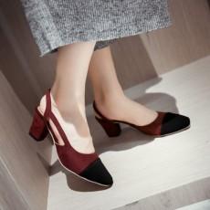 รองเท้าส้นสูง แฟชั่นเกาหลีหัวแหลมมีสายรัดส้นเท้าสวยใหม่ล่าสุด นำเข้า ไซส์33ถึง43 สีแดง - พรีออเดอร์RB2295 ราคา1750บาท