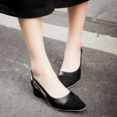 รองเท้าส้นสูง แฟชั่นเกาหลีหัวแหลมมีสายรัดส้นเท้าสวยใหม่ล่าสุด นำเข้า ไซส์33ถึง43 สีดำ - พรีออเดอร์RB2295 ราคา1750บาท