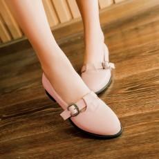รองเท้าส้นเตี้ย แบบสวมน่ารักสไตล์แฟชั่นเกาหลีคัทชูรุ่นใหม่ นำเข้าไซส์34ถึง43 สีชมพู - พรีออเดอร์RB2297 ราคา1700บาท