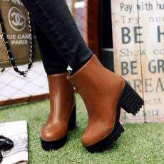 รองเท้าบูทสั้น หุ้มข้อแฟชั่นเกาหลีส้นสูงหนามีซิปสวมง่ายใหม่ นำเข้า ไซส์34ถึง43 สีน้ำตาล - พรีออเดอร์RB2301 ราคา1750บาท