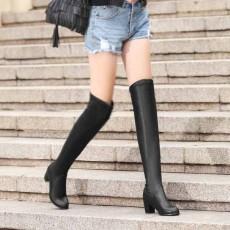 รองเท้าบูทยาว หนังส้นสูงสวยเข้ารูปเรียวขาแฟชั่นเกาหลีใหม่ล่าสุด นำเข้า ไซส์34ถึง43 สีดำ - พรีออเดอร์RB2309 ราคา2100บาท