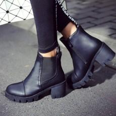 รองเท้าบูทสั้น หุ้มข้อส้นสูงมีพื้นหน้าเท้าแฟชั่นเกาหลีพื้นหยักใหม่ นำเข้า ไซส์34ถึง43 สีดำ - พรีออเดอร์RB2314 ราคา1950บาท