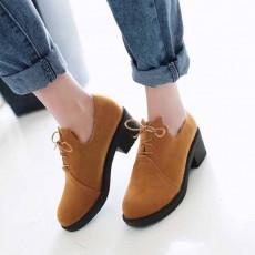 รองเท้าแคชชวล หนังกลับส้นเตี้ยกึ่งผ้าใบแฟชั่นเกาหลี นำเข้าไซส์34ถึง43 สีเหลือง - พรีออเดอร์RB2325 ราคา1750บาท