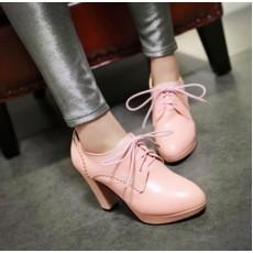 รองเท้าส้นสูง แฟชั่นเกาหลีหัวแหลมหุ้มส้นเท้ามีเชือกผูก นำเข้า ไซส์33ถึง44 สีชมพู - พรีออเดอร์RB2327 ราคา1950บาท