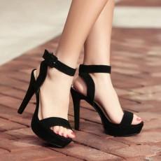 รองเท้าส้นสูง แฟชั่นเกาหลีเสริมหน้าเท้ารัดส้นสวยออกงานหรูหรา นำเข้า ไซส์34ถึง39 สีดำ - พรีออเดอร์RB2328 ราคา1950บาท