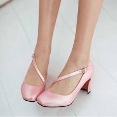 รองเท้าส้นสูง แฟชั่นเกาหลีหุ้มส้นสายไขว้หลังเท้าเสริมเสน่ห์ นำเข้า ไซส์33ถึง43 สีชมพู - พรีออเดอร์RB2329 ราคา1890บาท