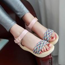 รองเท้าส้นเตารีด มีสายรัดส้นแฟชั่นเกาหลีดีไซน์หนังสานน่ารัก นำเข้า ไซส์34ถึง39 สีชมพู - พรีออเดอร์RB2335 ราคา1770บาท