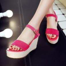 รองเท้าส้นเตารีด มีสายรัดส้นแฟชั่นเกาหลีดีไซน์หนังกลับน่ารัก นำเข้า ไซส์34ถึง39 สีชมพู - พรีออเดอร์RB2338 ราคา1900บาท