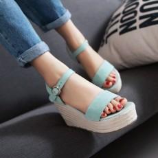 รองเท้าส้นเตารีด มีสายรัดส้นแฟชั่นเกาหลีดีไซน์หนังกลับน่ารัก นำเข้า ไซส์34ถึง39 สีฟ้า - พรีออเดอร์RB2338 ราคา1900บาท