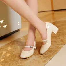 รองเท้าส้นสูง แฟชั่นเกาหลีหุ้มส้นสายหนังรัดหลังเท้าสวมสบาย นำเข้า ไซส์33ถึง43 สีครีม - พรีออเดอร์RB2345 ราคา1750บาท