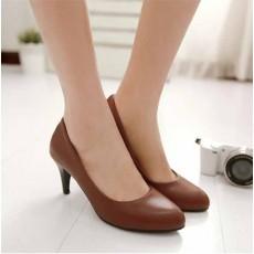 รองเท้าส้นสูง แฟชั่นเกาหลีหุ้มส้นหนังคัทชูผู้หญิงใส่ทำงาน นำเข้า ไซส์33ถึง43 สีน้ำตาล - พรีออเดอร์RB2348 ราคา1850บาท
