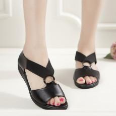 รองเท้าหนังเพื่อสุขภาพ แฟชั่นเกาหลีดีไซส์สวยหนังแท้สำหรับทุกวัย นำเข้า ไซส์35ถึง40 สีดำ - พรีออเดอร์RB2352 ราคา1600บาท