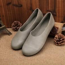 รองเท้าหนังแท้เพื่อสุขภาพ แฟชั่นเกาหลีส้นแบนหัวมนสวมสบาย นำเข้า ไซส์35ถึง40 สีเทา - พรีออเดอร์RB2355 ราคา2850บาท