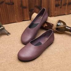 รองเท้าหนังแท้เพื่อสุขภาพ แฟชั่นเกาหลีส้นแบนหัวมนสวมสบาย นำเข้า ไซส์35ถึง40 สีม่วง - พรีออเดอร์RB2355 ราคา2850บาท