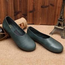 รองเท้าหนังแท้เพื่อสุขภาพ แฟชั่นเกาหลีส้นแบนหัวมนสวมสบาย นำเข้า ไซส์35ถึง40 สีเขียว - พรีออเดอร์RB2355 ราคา2850บาท