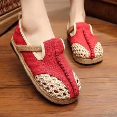 รองเท้าเพื่อสุขภาพ แฟชั่นเกาหลีผ้าลินินทอมือนุ่มสบาย นำเข้า ไซส์35ถึง40 สีแดง - พรีออเดอร์RB2364 ราคา1500บาท