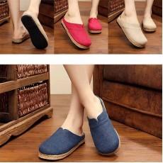 รองเท้าเพื่อสุขภาพ แฟชั่นเกาหลีผ้าลินินทอมือนุ่มสบาย นำเข้า ไซส์35ถึง40 มี3สี - พรีออเดอร์RB2365 ราคา1450บาท