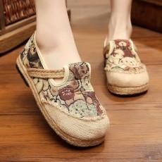รองเท้าเพื่อสุขภาพ แฟชั่นเกาหลีลายหมีเท็ดดี้ผ้าลินินทอมือนุ่มสบาย นำเข้า ไซส์35ถึง40 มี2สี - พรีออเดอร์RB2367 ราคา1450บาท