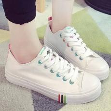 รองเท้าผ้าใบส้นหนา แฟชั่นเกาหลีแนวผู้หญิงสวมสีหวานใหม่ล่าสุด นำเข้า ไซส์35ถึง40 สีขาว - พรีออเดอร์RB2375 ราคา1350บาท