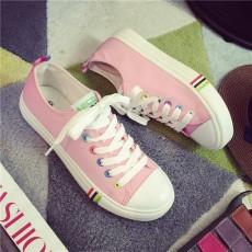 รองเท้าผ้าใบส้นหนา แฟชั่นเกาหลีแนวผู้หญิงสวมสีหวานใหม่ล่าสุด นำเข้า ไซส์35ถึง40 สีชมพู - พรีออเดอร์RB2375 ราคา1350บาท