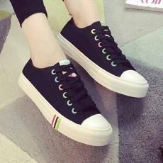 รองเท้าผ้าใบส้นหนา แฟชั่นเกาหลีแนวผู้หญิงสวมสีหวานใหม่ล่าสุด นำเข้า ไซส์35ถึง40 สีดำ - พรีออเดอร์RB2375 ราคา1350บาท