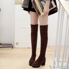 รองเท้าบูทยาว กันหนาวพับได้หนังกลับแฟชั่นเกาหลีใหม่ นำเข้า ไซส์34ถึง43 สีน้ำตาล - พรีออเดอร์RB2382 ราคา1850บาท