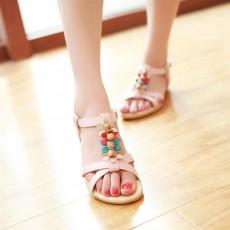 รองเท้าแตะรัดส้น สวมเพื่อสุขภาพแฟชั่นเกาหลีแต่งดอกไม้ นำเข้า ไซส์34ถึง39 สีชมพู - พรีออเดอร์RB2383 ราคา1350บาท