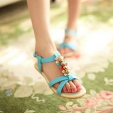 รองเท้าแตะรัดส้น สวมเพื่อสุขภาพแฟชั่นเกาหลีแต่งดอกไม้ นำเข้า ไซส์34ถึง39 สีฟ้า - พรีออเดอร์RB2383 ราคา1350บาท