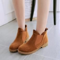 รองเท้าบูทสั้น แฟชั่นเกาหลีส้นเตี้ยหนังกลับใหม่มีไซส์ใหญ่ นำเข้า ไซส์34ถึง43 สีน้ำตาล - พรีออเดอร์RB2394 ราคา1950บาท