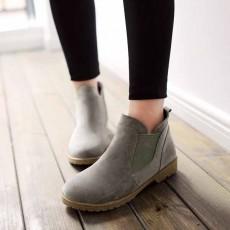 รองเท้าบูทสั้น แฟชั่นเกาหลีส้นเตี้ยหนังกลับใหม่มีไซส์ใหญ่ นำเข้า ไซส์34ถึง43 สีเทา - พรีออเดอร์RB2394 ราคา1950บาท