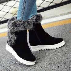 รองเท้าบูทสั้นกันหนาว แฟชั่นเกาหลีบุขนเฟอร์ซิปข้างส้นเตี้ย นำเข้า ไซส์33ถึง43 สีดำ - พรีออเดอร์RB2399 ราคา1990บาท