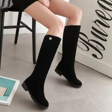 รองเท้าบูทยาว กันหนาวส้นเตี้ยแฟชั่นเกาหลีขนกำมะหยี่รุ่นใหม่ นำเข้า ไซส์34ถึง43 สีดำ - พรีออเดอร์RB2400 ราคา1950บาท