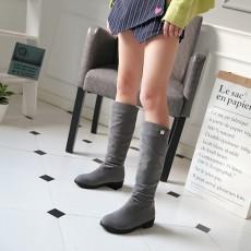 รองเท้าบูทยาว กันหนาวส้นเตี้ยแฟชั่นเกาหลีขนกำมะหยี่รุ่นใหม่ นำเข้า ไซส์34ถึง43 สีเทา - พรีออเดอร์RB2400 ราคา1950บาท