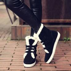 รองเท้าบูทกันหนาว แฟชั่นเกาหลีบุขนเฟอร์ส้นเตี้ย นำเข้า ไซส์33ถึง43 สีดำ - พรีออเดอร์RB2401 ราคา1990บาท