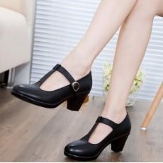 รองเท้าหนังแท้เพื่อสุขภาพ แฟชั่นเกาหลีคัทชูหุ้มส้นหรูแบบใหม่ นำเข้า ไซส์32ถึง43 สีดำ - พรีออเดอร์RB2402 ราคา1990บาท