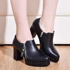 รองเท้าส้นสูง แฟชั่นเกาหลีคัทชูเซ็กซี่คล่องตัวซิปข้าง นำเข้าไซส์33ถึง43 สีดำ - พรีออเดอร์RB2405 ราคา1850บาท