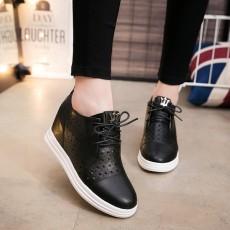 รองเท้าผ้าใบหนัง แฟชั่นเกาหลีผู้หญิงสไตล์วินเทจฉลุหนังใหม่ นำเข้า ไซส์34ถึง43 สีดำ - พรีออเดอร์RB2406 ราคา1950บาท