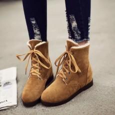 รองเท้าผ้าใบหุ้มข้อกันหนาว แฟชั่นเกาหลีผู้หญิงสไตล์บูทสั้นใหม่ นำเข้า ไซส์34ถึง43 สีน้ำตาล - พรีออเดอร์RB2413 ราคา1990บาท