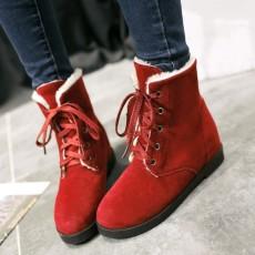 รองเท้าผ้าใบหุ้มข้อกันหนาว แฟชั่นเกาหลีผู้หญิงสไตล์บูทสั้นใหม่ นำเข้า ไซส์34ถึง43 สีแดง - พรีออเดอร์RB2413 ราคา1990บาท