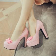 รองเท้าส้นสูง แฟชั่นเกาหลีเสริมหน้าเท้าสูงสวยมีไซส์เล็กใหญ่ นำเข้าไซส์33ถึง43 สีชมพู - พรีออเดอร์RB2416 ราคา1950บาท