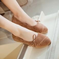 รองเท้าเพื่อสุขภาพ แฟชั่นเกาหลีส้นแบนหนังกลับน่ารักใส่สบาย นำเข้า ไซส์34ถึง43 สีน้ำตาล - พรีออเดอร์RB2417 ราคา1850บาท