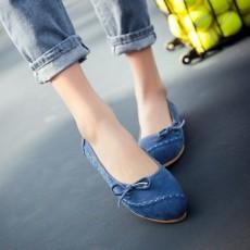 รองเท้าเพื่อสุขภาพ แฟชั่นเกาหลีส้นแบนหนังกลับน่ารักใส่สบาย นำเข้า ไซส์34ถึง43 สีน้ำเงิน - พรีออเดอร์RB2417 ราคา1850บาท
