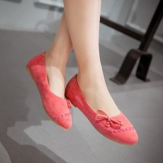 รองเท้าเพื่อสุขภาพ แฟชั่นเกาหลีส้นแบนหนังกลับน่ารักใส่สบาย นำเข้า ไซส์34ถึง43 สีชมพู - พรีออเดอร์RB2417 ราคา1850บาท