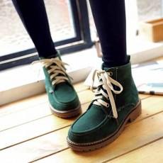 รองเท้าผ้าใบหุ้มข้อ แฟชั่นเกาหลีหนังกลับสไตล์บูทสั้นใหม่ นำเข้า ไซส์34ถึง43 สีเขียว - พรีออเดอร์RB2429 ราคา2000บาท