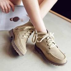 รองเท้าผ้าใบหุ้มข้อ แฟชั่นเกาหลีหนังกลับสไตล์บูทสั้นใหม่ นำเข้า ไซส์34ถึง43 สีครีม - พรีออเดอร์RB2429 ราคา2000บาท