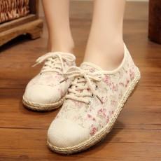 รองเท้าผ้าใบเพื่อสุขภาพ แฟชั่นเกาหลีผ้าลินินนุ่มสบาย นำเข้า ไซส์35ถึง40 สีชมพู - พรีออเดอร์RB2432 ราคา1650บาท