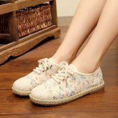 รองเท้าผ้าใบเพื่อสุขภาพ แฟชั่นเกาหลีผ้าลินินนุ่มสบาย นำเข้า ไซส์35ถึง40 สีฟ้า - พรีออเดอร์RB2432 ราคา1650บาท