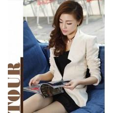เสื้อสูทตัวยาว แฟชั่นเกาหลีสวยแบบผู้บริหาร นำเข้า ไซส์SถึงXL สีขาว - พรีออเดอร์SJ1340 ราคา1350บาท