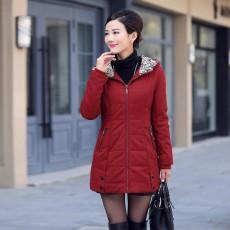 เสื้อโค้ทกันหนาว ดีไซน์แจ็คเก็ตมีฮู้ดตัวยาวแฟชั่นเกาหลี นำเข้าไซส์Mถึง4XL สีแดง - พรีออเดอร์SJ1390 ราคา2990บาท